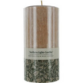 Sandalwood Spice Scented One 6 Inch Pillar, Sandalwood Spice Scented Candle. Made Of Pure Vegetable Wax And Cotton Wicking For A Clean And Fragrant Burn. Burns Approx 90 Hrs for unisex by Sandalwood Spice Scented