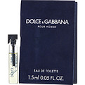 Dolce & Gabbana Eau De Toilette Vial On Card for men by Dolce & Gabbana