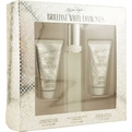 White Diamonds Brilliant Edt Spray 1.7 oz & Body Lotion 1.7 oz & Body Wash 1.7 oz for women by Elizabeth Taylor