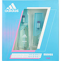 Adidas Moves Eau De Toilette Spray 1 oz & Eau De Toilette Spray .5 oz * for women by Adidas