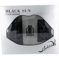 Black Sun Edt Spray 3.4 oz & Aftershave Spray 1.7 oz & Edt .17 oz Mini for men by Salvador Dali