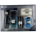 Royal Copenhagen Cologne Spray 3.3 oz & Deodorant Stick 2.5 oz & Hair And Body Wash 3.3 oz & Soap 5 oz & Playing Cards for men by Royal Copenhagen