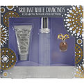 White Diamonds Brilliant Eau De Toilette Spray 1.7 oz & Body Lotion 1.7 oz & White Diamonds Parfum .12 oz Mini for women by Elizabeth Taylor
