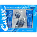 Curve Appeal Cologne Spray 2.5 oz & Hair & Body Wash 3.4 oz & Skin Soother 3.4 oz & Cologne Spray 1 oz for men by Liz Claiborne