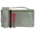 Clarins Set-Beauty Balm Collection: Beauty Flash Balm 1.7oz + Instant Light Lip Perfector .15oz + Instant Smooth Line Correcting + Cosmetic Bag --4pcs for women by Clarins