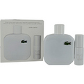 Lacoste Eau De Lacoste L.12.12 Blanc Edt Spray 3.4 oz & Edt Spray .27 oz Mini for men by Lacoste