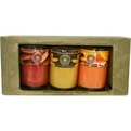 Candle Gift Set Set Includes 3 Soy Candle Tumblers Featuring Orange Spice, Cinnamon Stick And Vanilla. Each Candle Burns Approx 4 Hrs for unisex