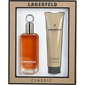 Lagerfeld Eau De Toilette Spray 3.3 oz & Shower Gel 5 oz for men by Karl Lagerfeld