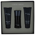 Armani Code Eau De Toilette Spray 1.7 oz & Aftershave Balm 2.5 oz & Shower Gel 2.5 oz for men by Giorgio Armani