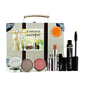 Cargo A Vintage Escape Suitcase Kit: 1xlip Color, 1xeyeshadow, 1xblush, 1xlip Primer, 1xmascara --5pcs for women