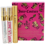 Juicy Couture Variety 3 Piece Womens Mini Variety With Juicy Couture & Viva La Juicy & Peace Love & Refilliable Purser And All Are Eau De Parfum Spray .33 oz Minis for women